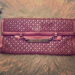 Charles David Metallic Pink Clutch Handbag